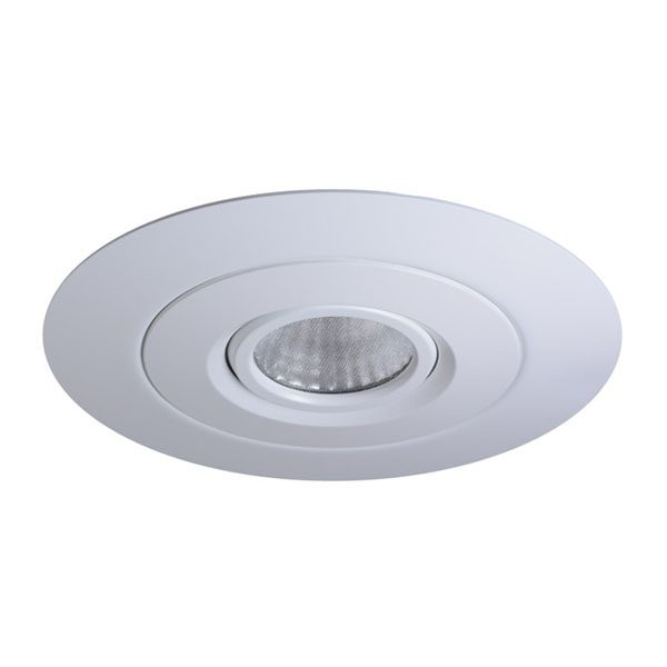 Large stuff up plate to fit smaller recessed LED downlights into bigger holes