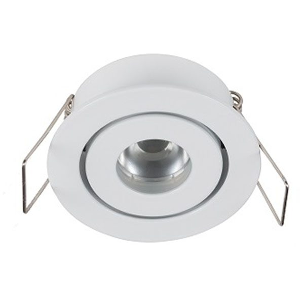 Small white recessed LED feature light by Switch Lighting
