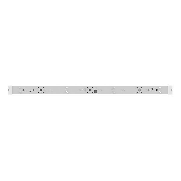 2 metre LED batten light fitting front view with cover removed