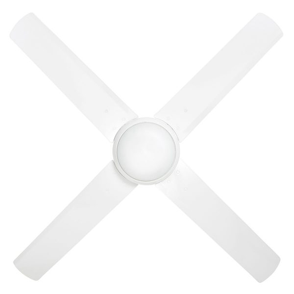 white ceiling fan with light Tempest