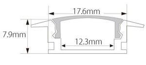 LED strip light housing cross-section drawing