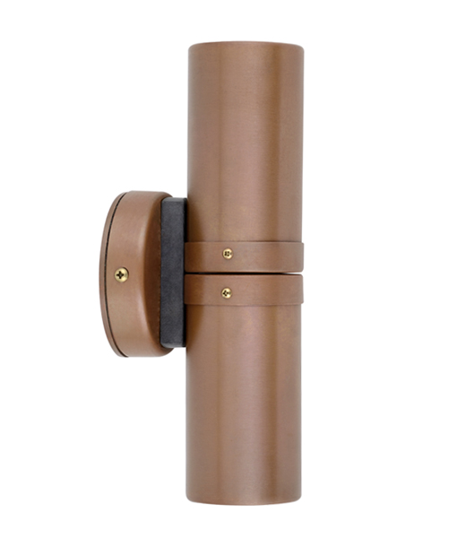 Copper up/down light patina finish