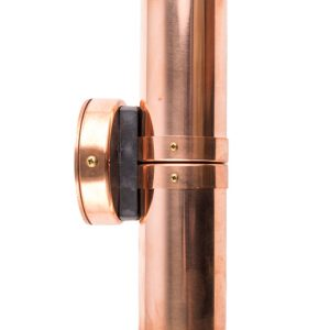 Copper up/down pillar light brand new shiny