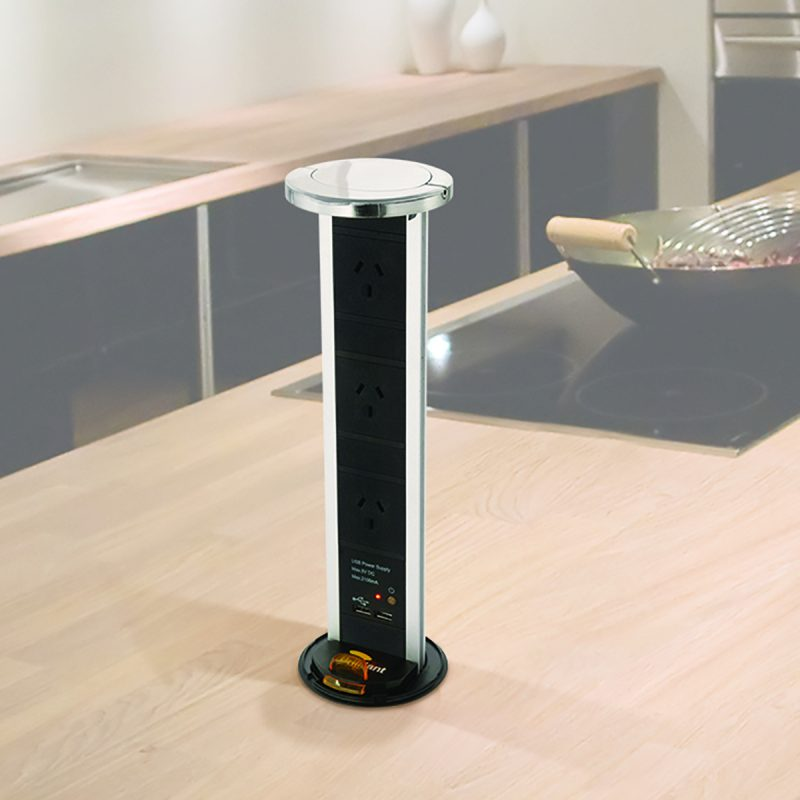 Kitchen Benchtop Power Outlet With Usb Astrum Lighting And Design