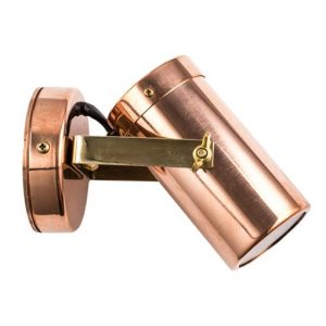 Copper outdoor spotlight