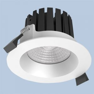 Round 80mm LED downlight for outdoor use